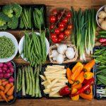 farm fresh vegetables on table